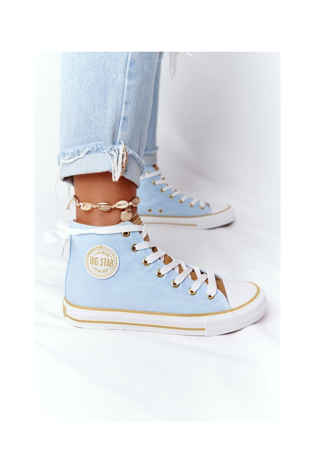 Dámske tenisky farba žltá kód obuvi HH274449 BLUE