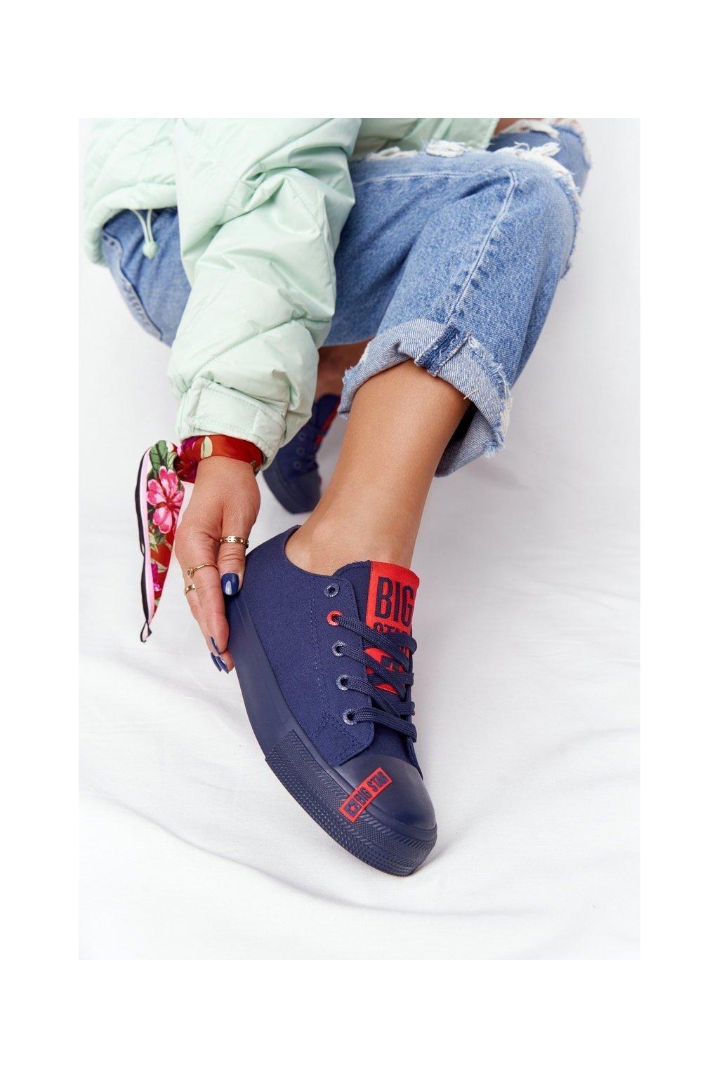 Dámske tenisky farba modrá kód obuvi HH274676 NAVY