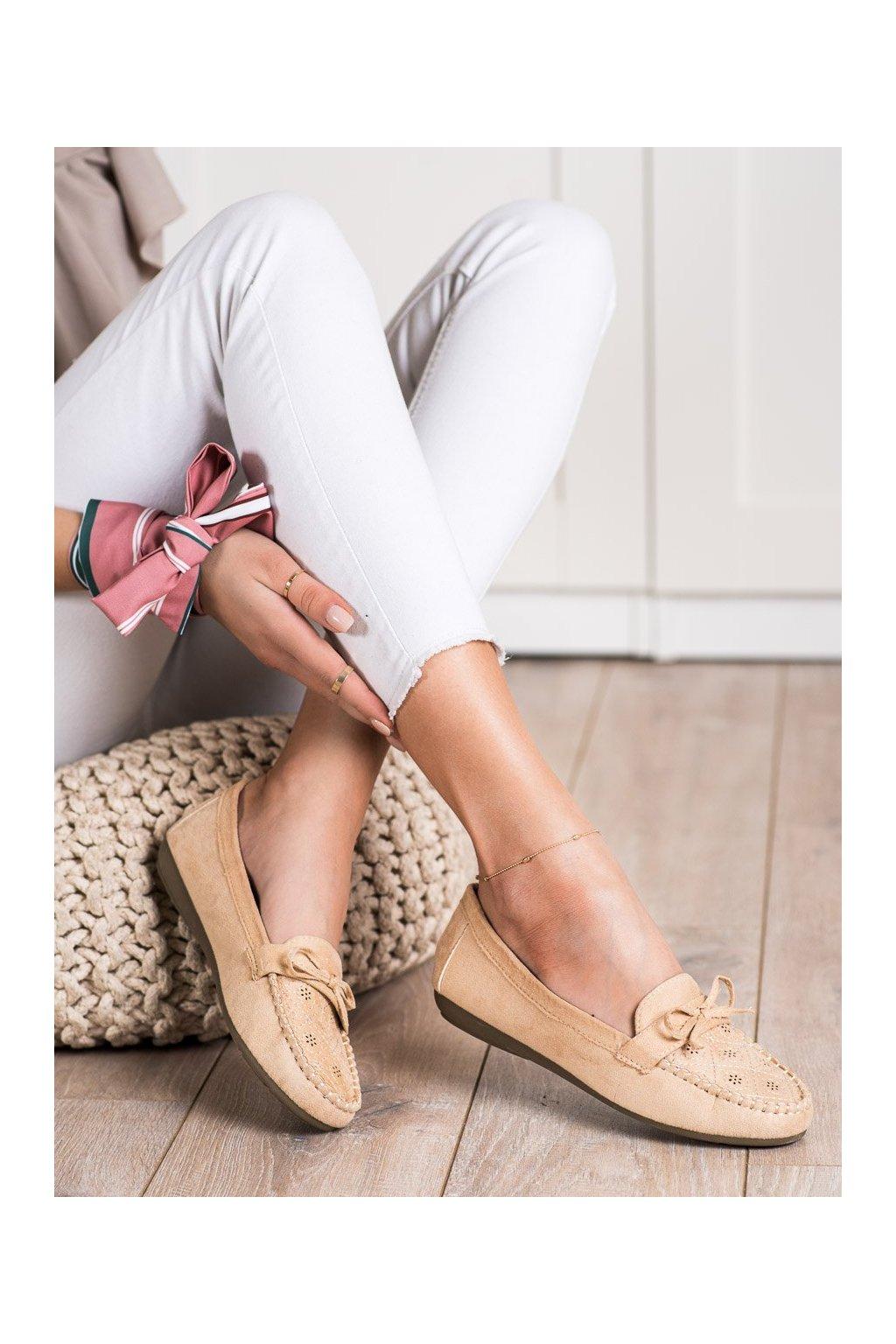 Hnedé mokasíny Best shoes kod 1R3BE