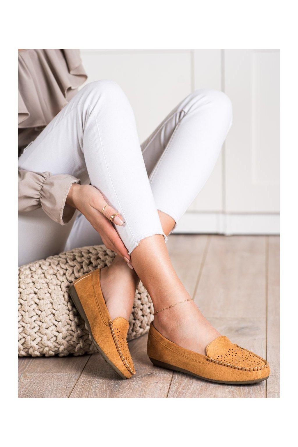 Hnedé mokasíny Best shoes kod 1R6C