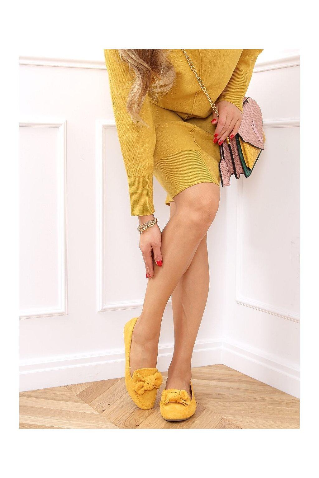 Dámske mokasíny žlté 9086
