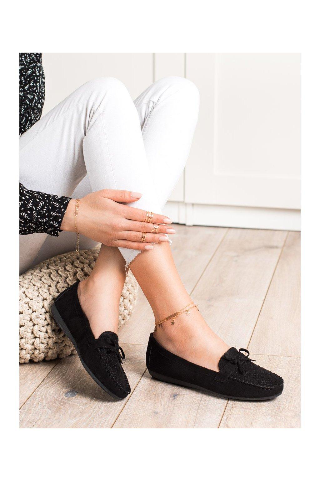 Čierne mokasíny Best shoes kod 1R3B