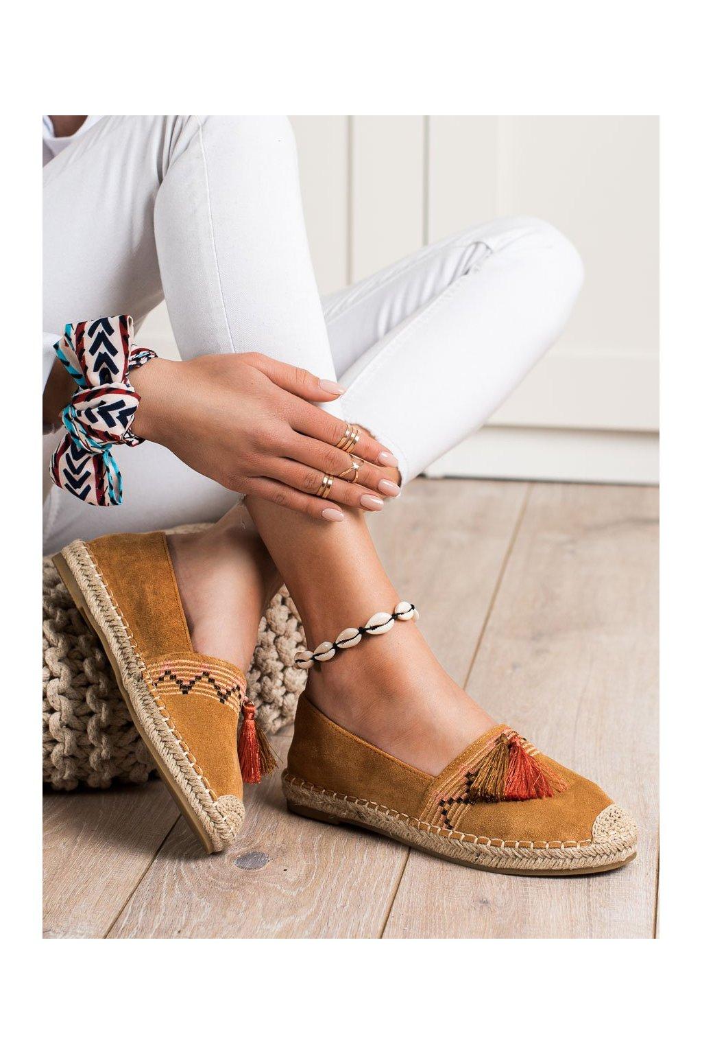 Hnedé poltopánky Best shoes kod 3R11C