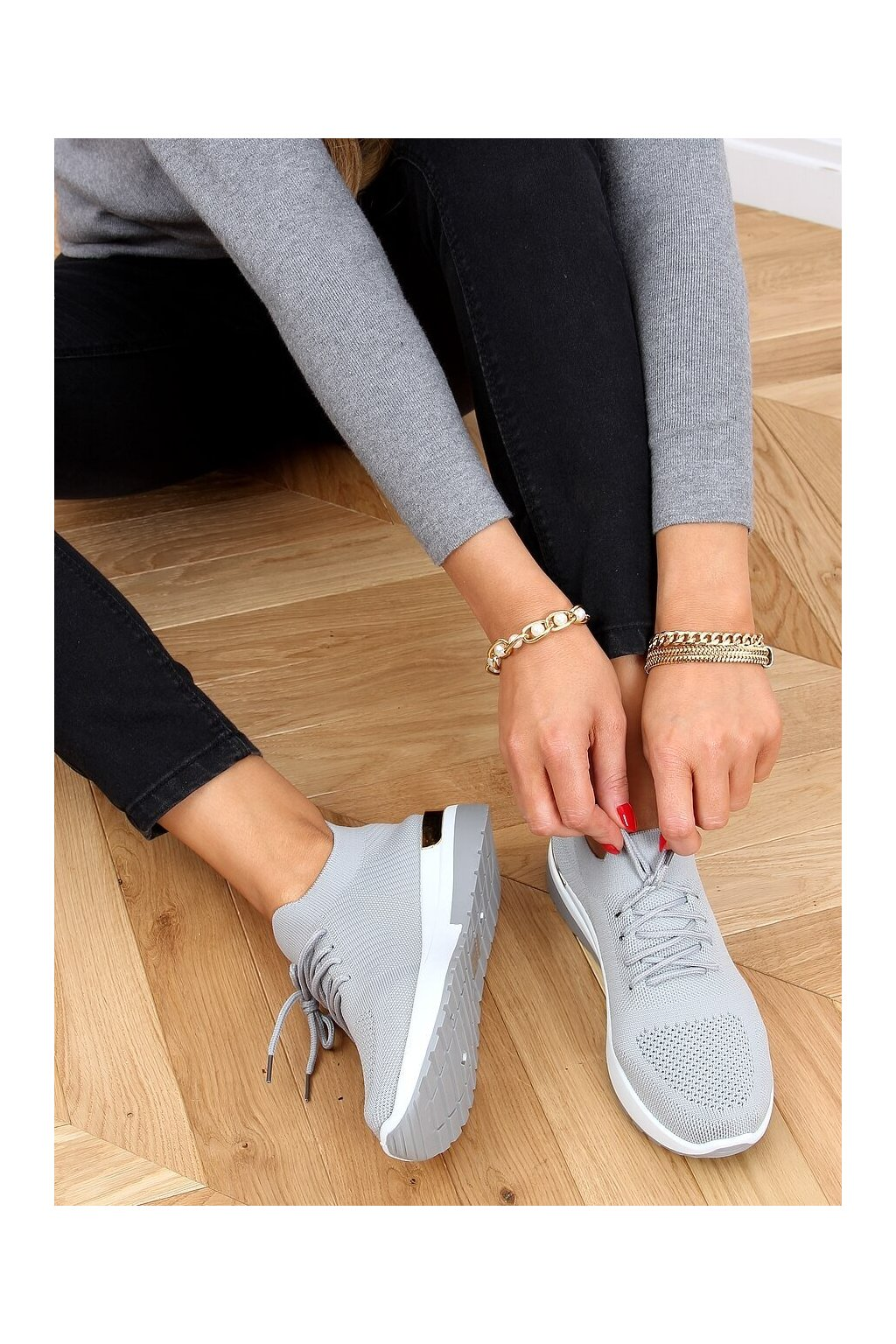 Dámske tenisky sivé G-363