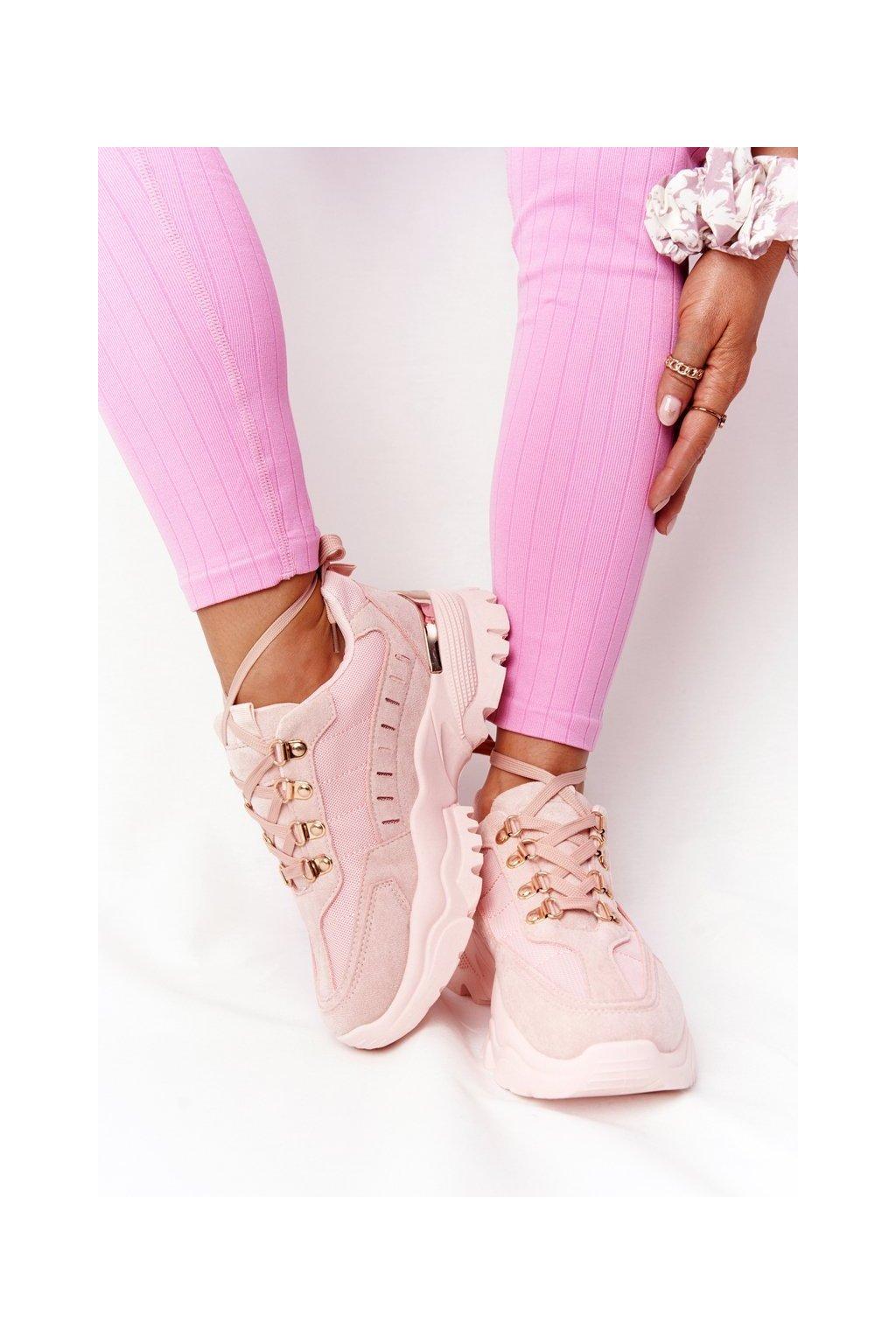 Dámske tenisky farba ružová NJSK VL131P PINK