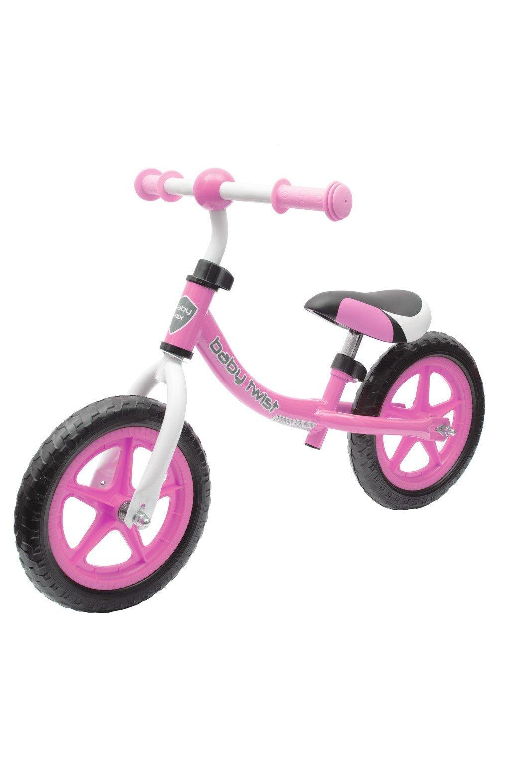 Detské odrážadlo bicykel Baby Mix TWIST ružové