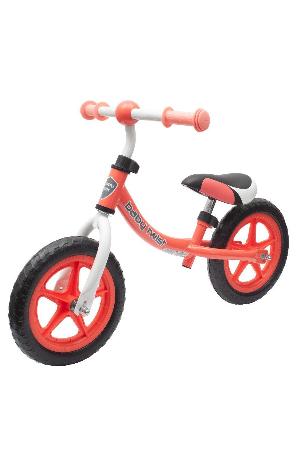 Detské odrážadlo bicykel Baby Mix TWIST coral red