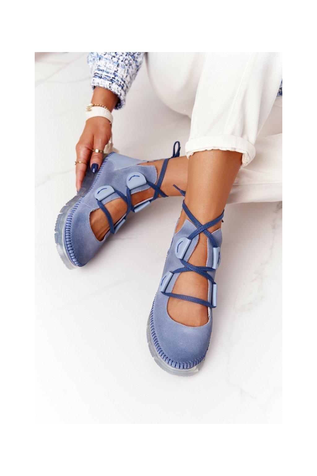 Dámske poltopánky farba viacfarebná kód obuvi 04457-06/00-5 NIEBIESKI