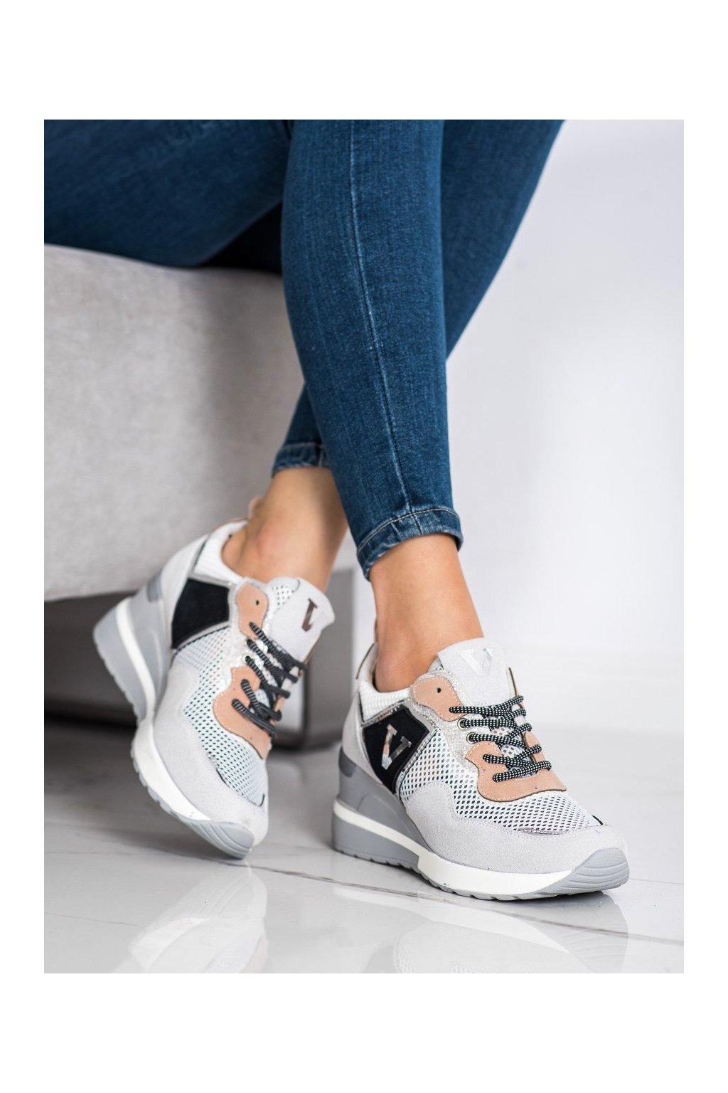 Sivé tenisky Vinceza kod XY21-10591G