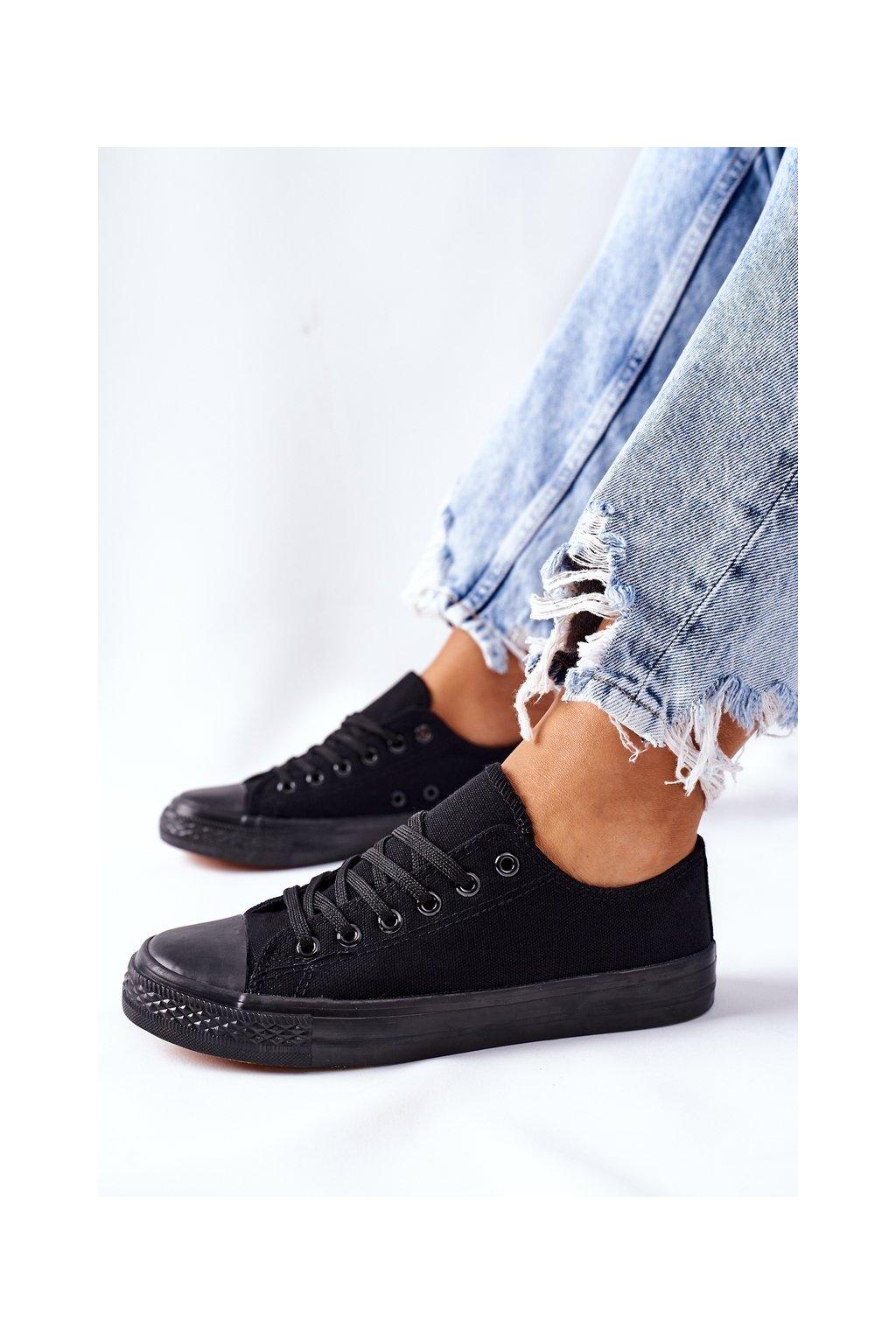 Dámske tenisky farba čierna kód obuvi XL03 ALL BLK JD05P