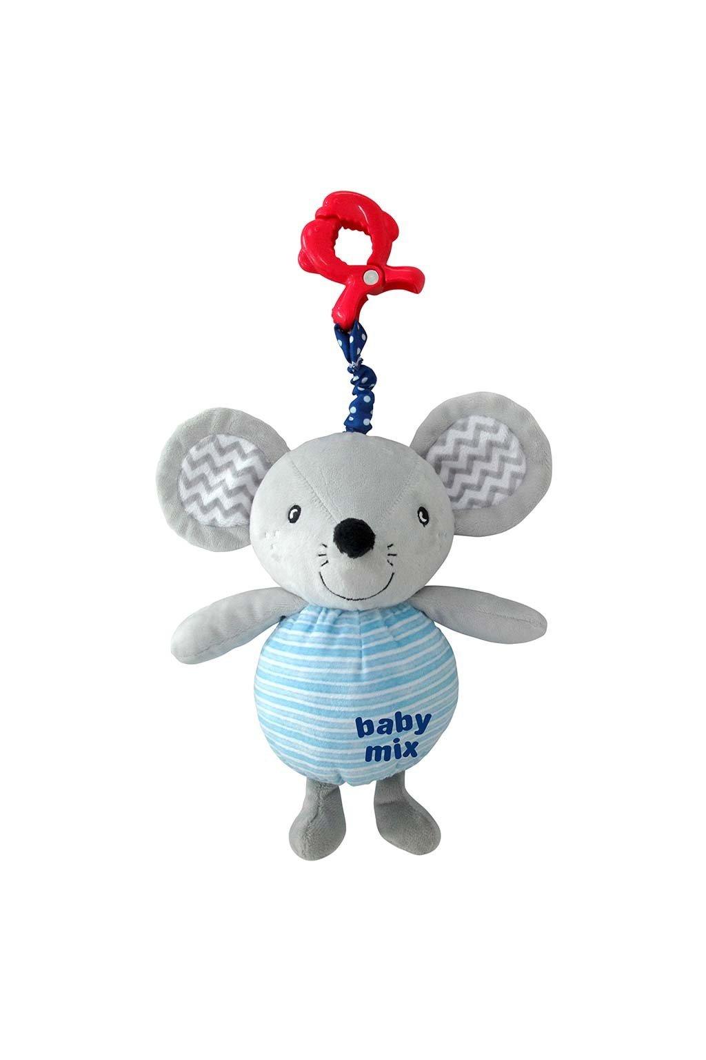 Detská plyšová hračka s hracím strojčekom Baby Mix Myška