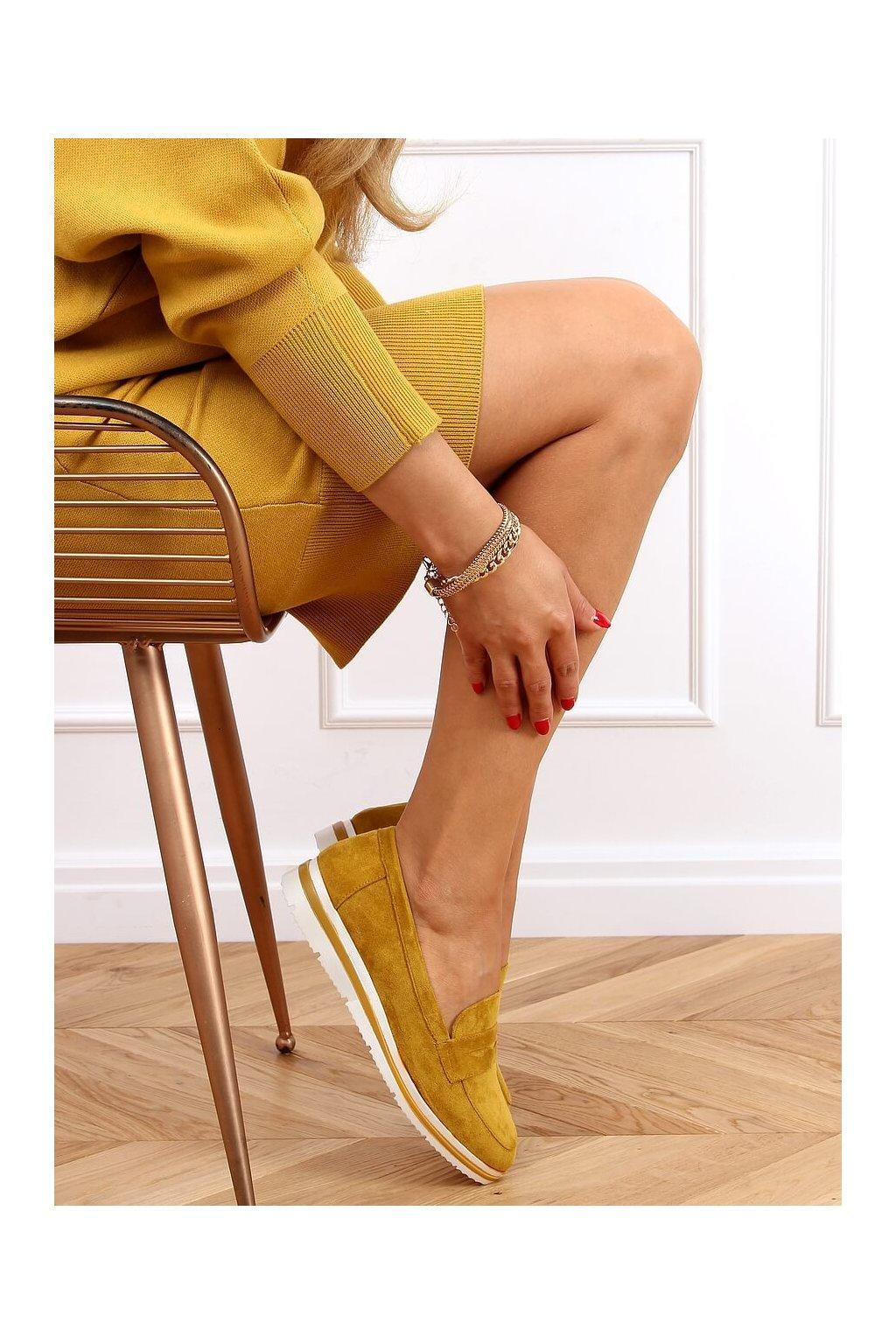 Dámske mokasíny žlté 1151