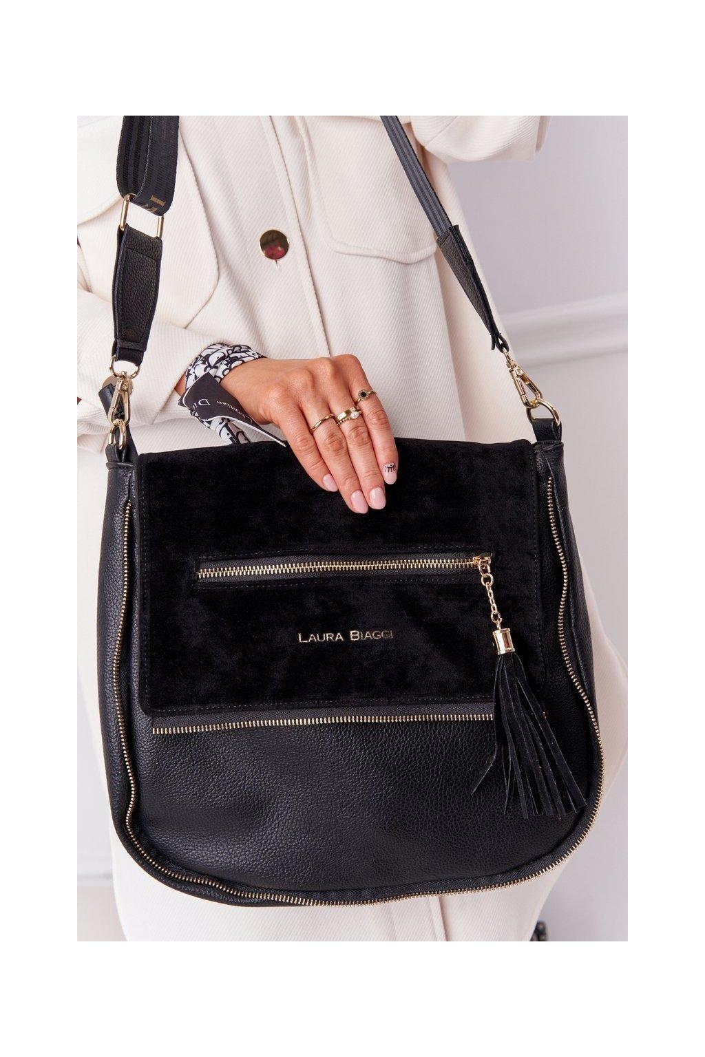 Dámska kabelka čierna kód kabelky 321015 BLACK