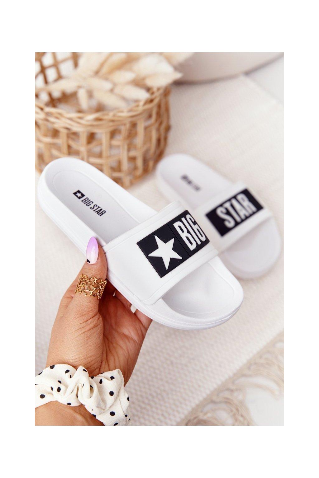 Detské šľapky farba biela kód obuvi DD374151 WHITE