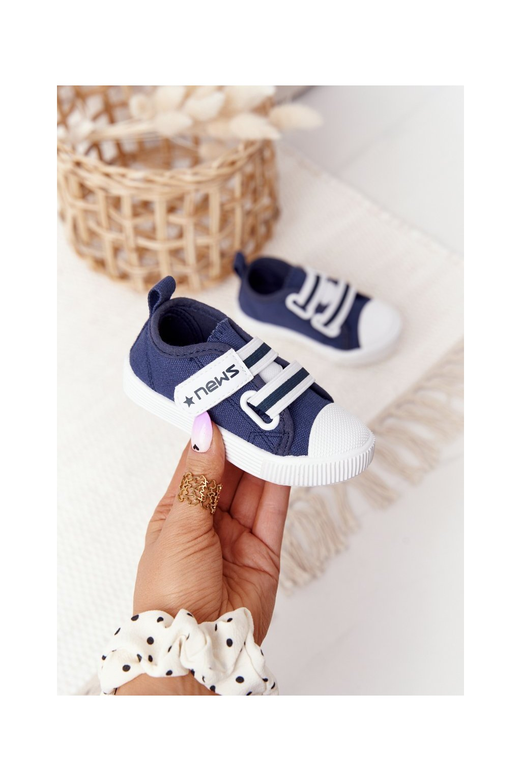 Detské tenisky farba modrá kód obuvi 21DZ26-3924 NAVY