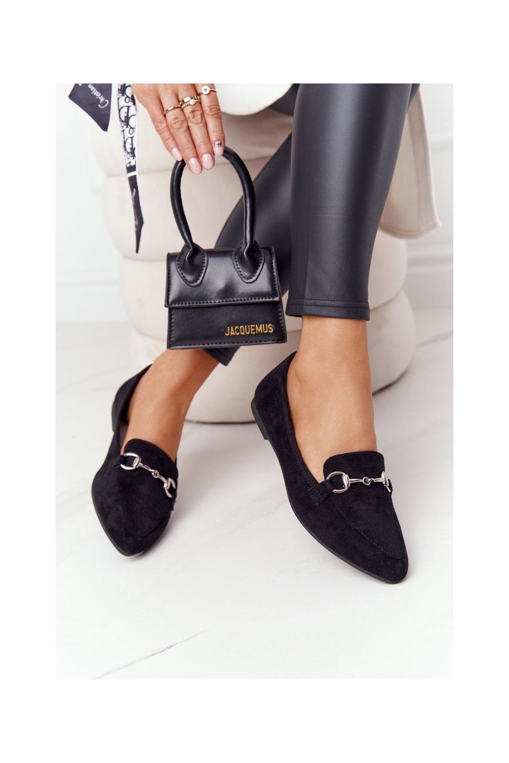 Dámske mokasíny farba čierna kód obuvi MK711 MIC BLK