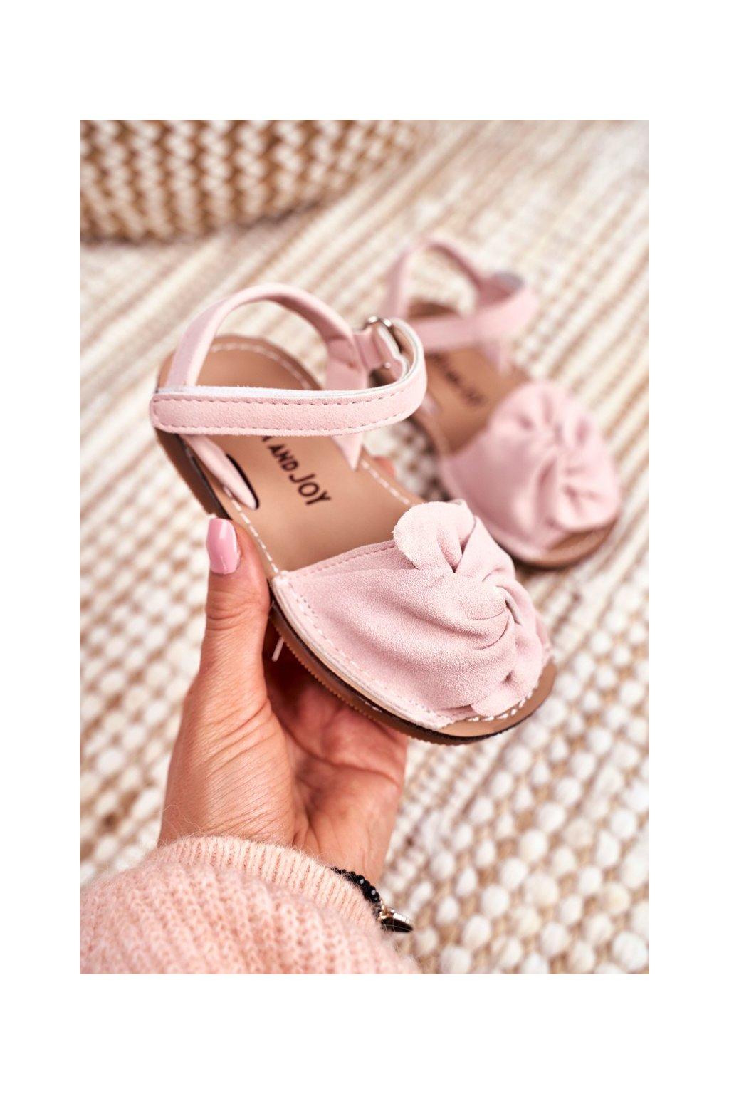 Detské sandále farba ružová NJSK 233 PINK