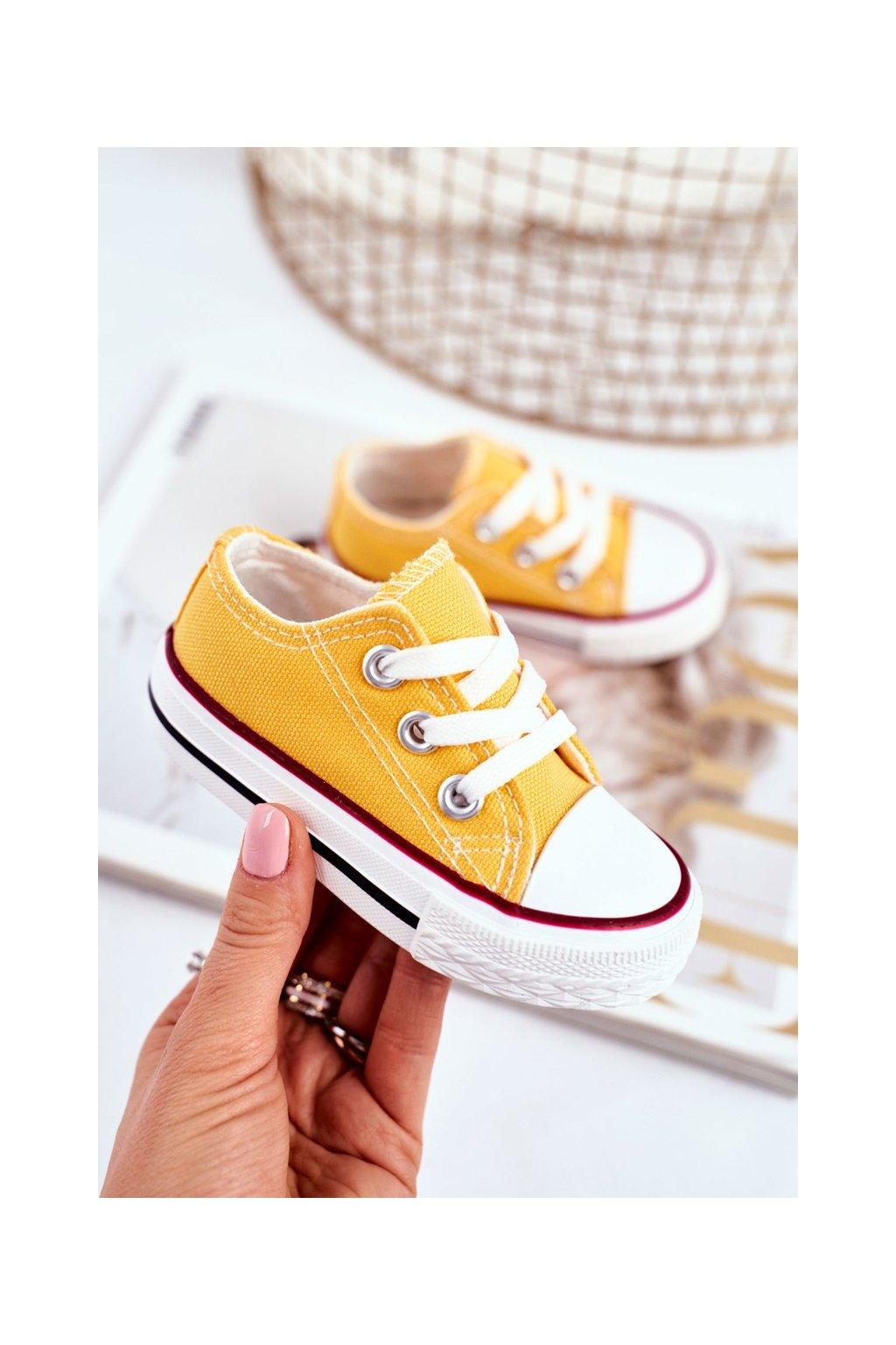 Detské tenisky farba žltá NJSK 860 YELLOW