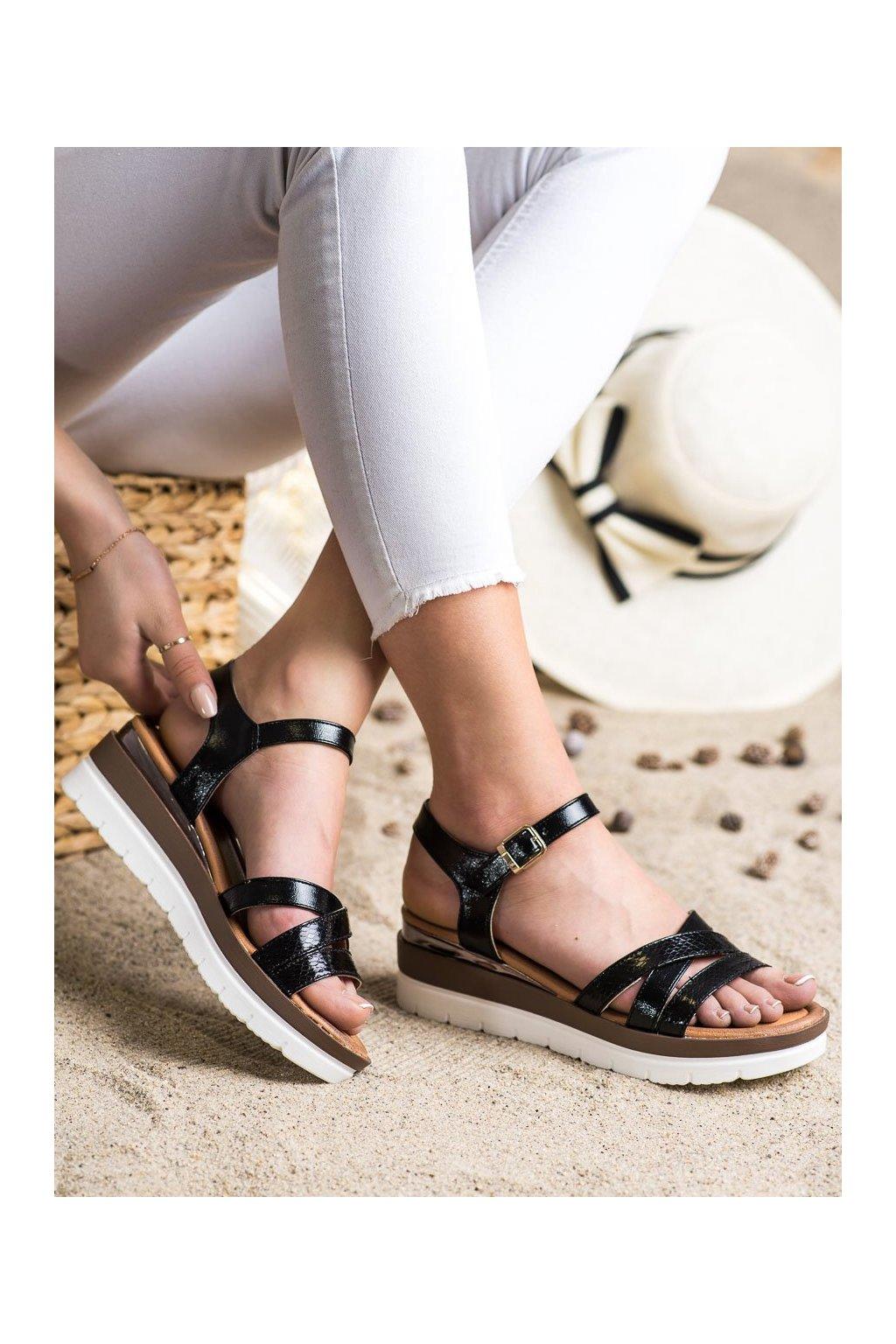 Čierne sandále na platforme Seastar kod NS118B