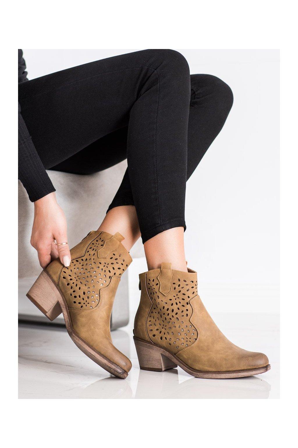 Hnedé dámske topánky Sergio leone kod BT152COF