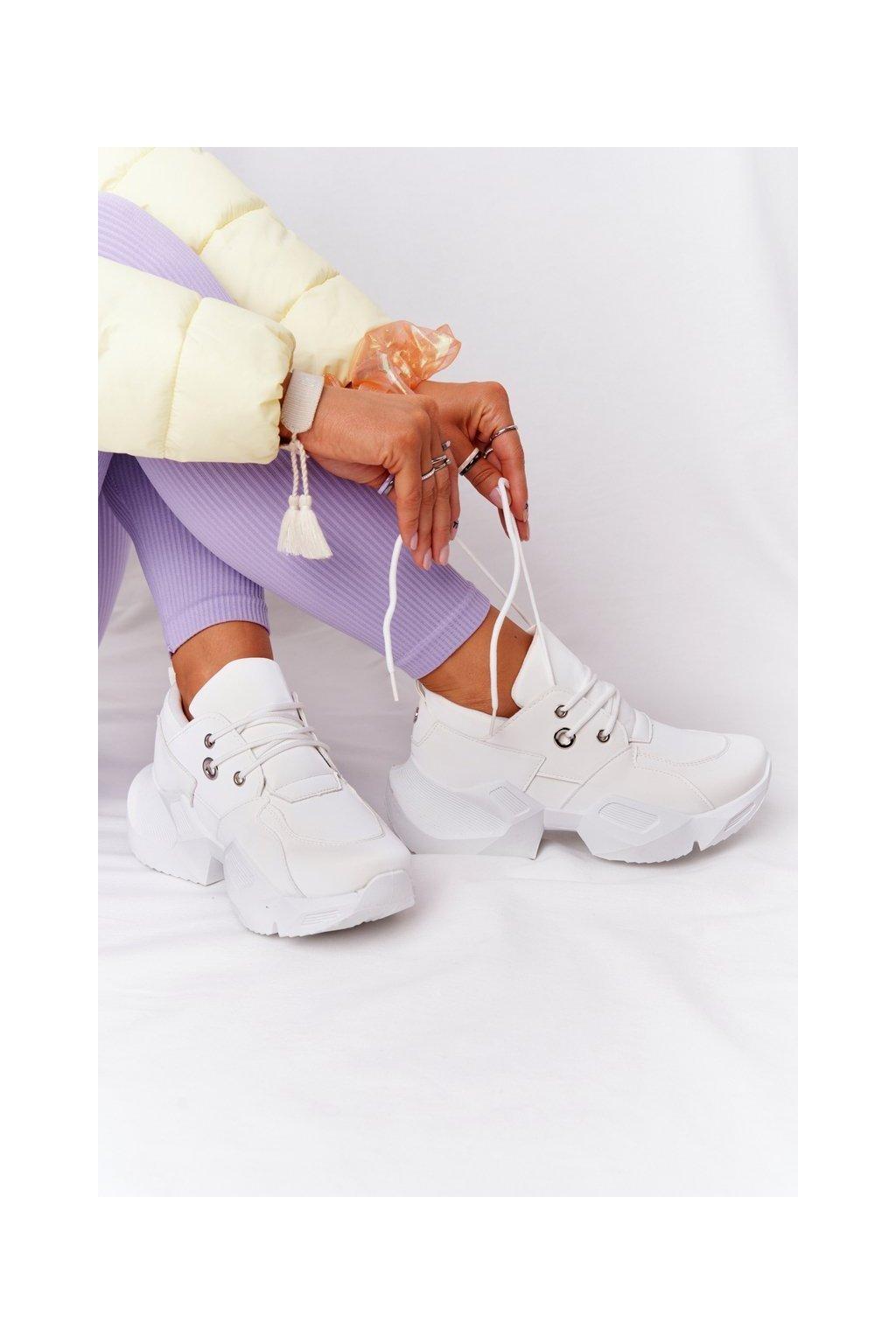 Dámske tenisky farba biela kód obuvi LA95 WHITE
