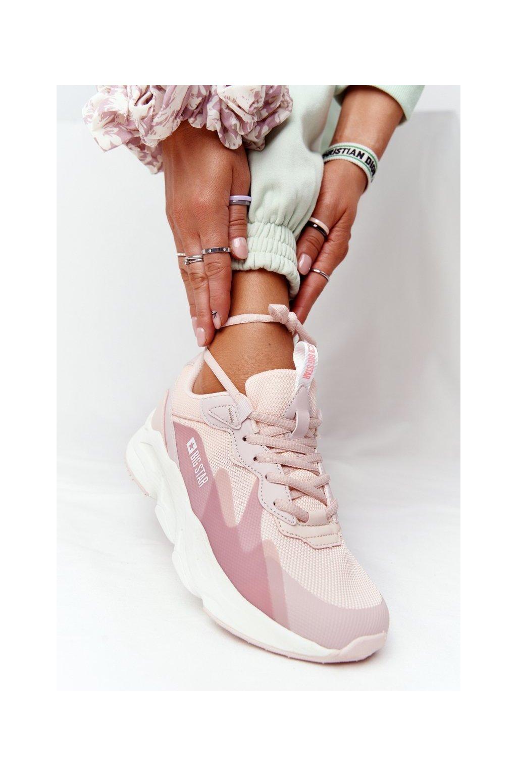 Dámske tenisky farba ružová kód obuvi HH274811 PINK