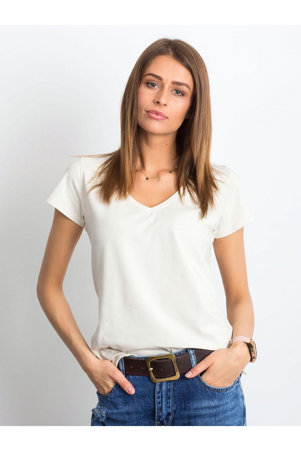 Dámske tričko jednofarebné kód RV-TS-4837.13P