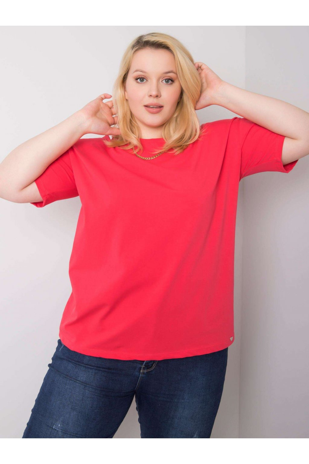 Dámske tričko plus size kód RV-TS-6318.00X