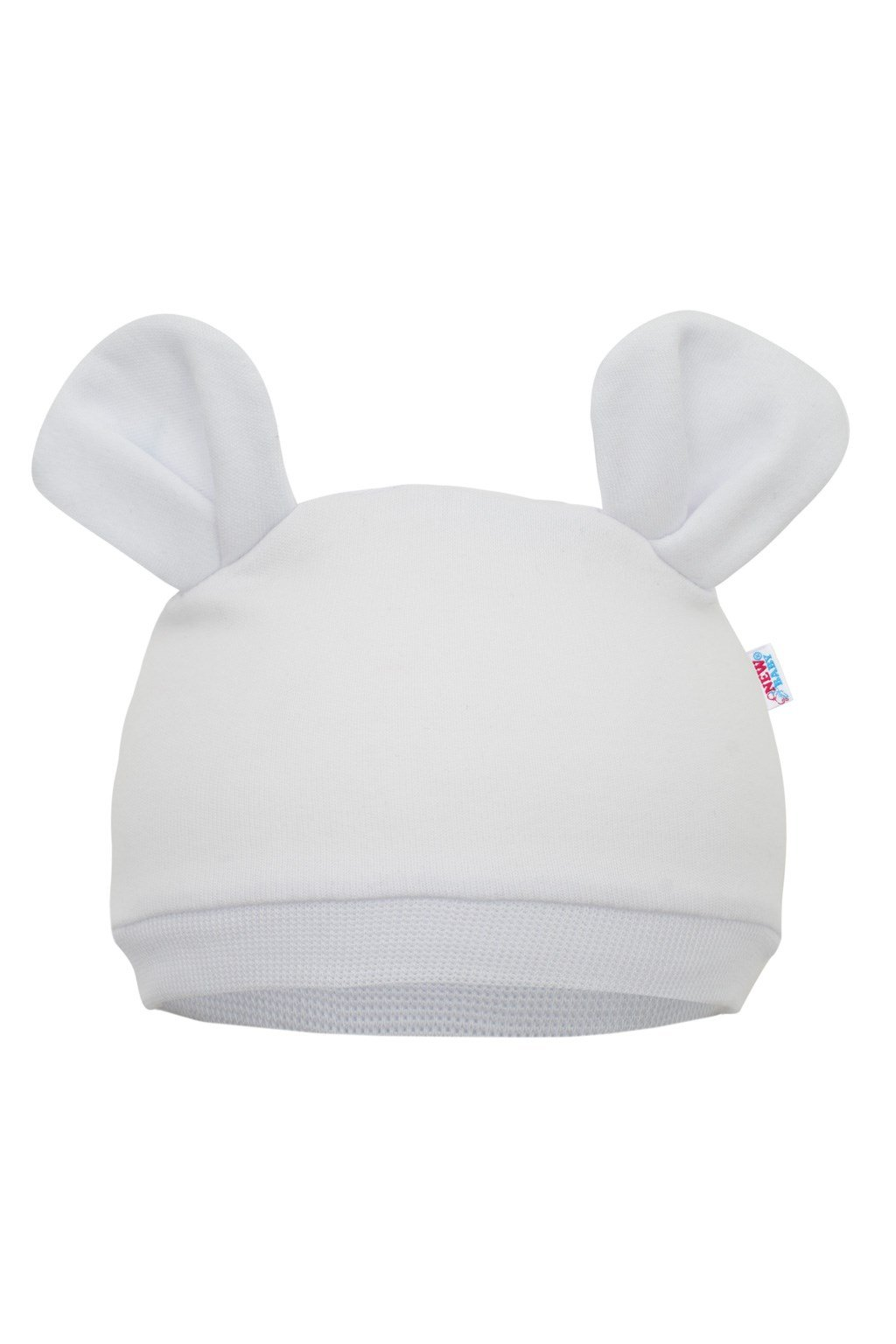 Dojčenská čiapočka New Baby Mouse biela NJSK 42316