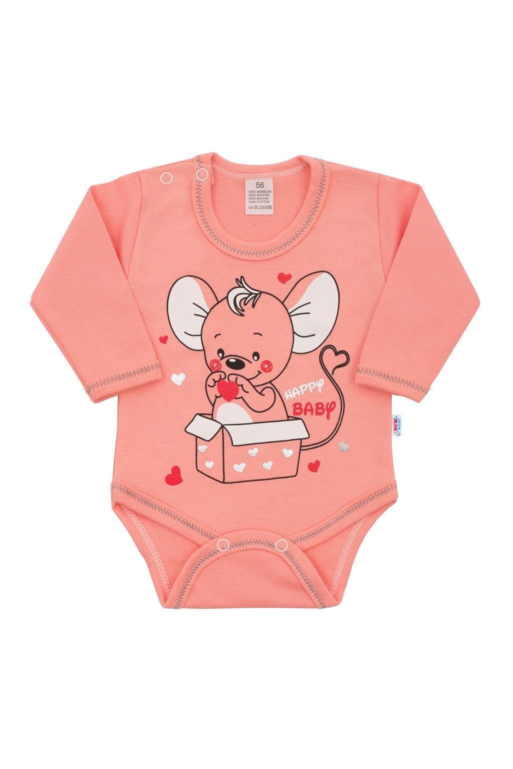 Dojčenské šatôčky s krátkym rukávom New Baby Summer dress NJSK 42057