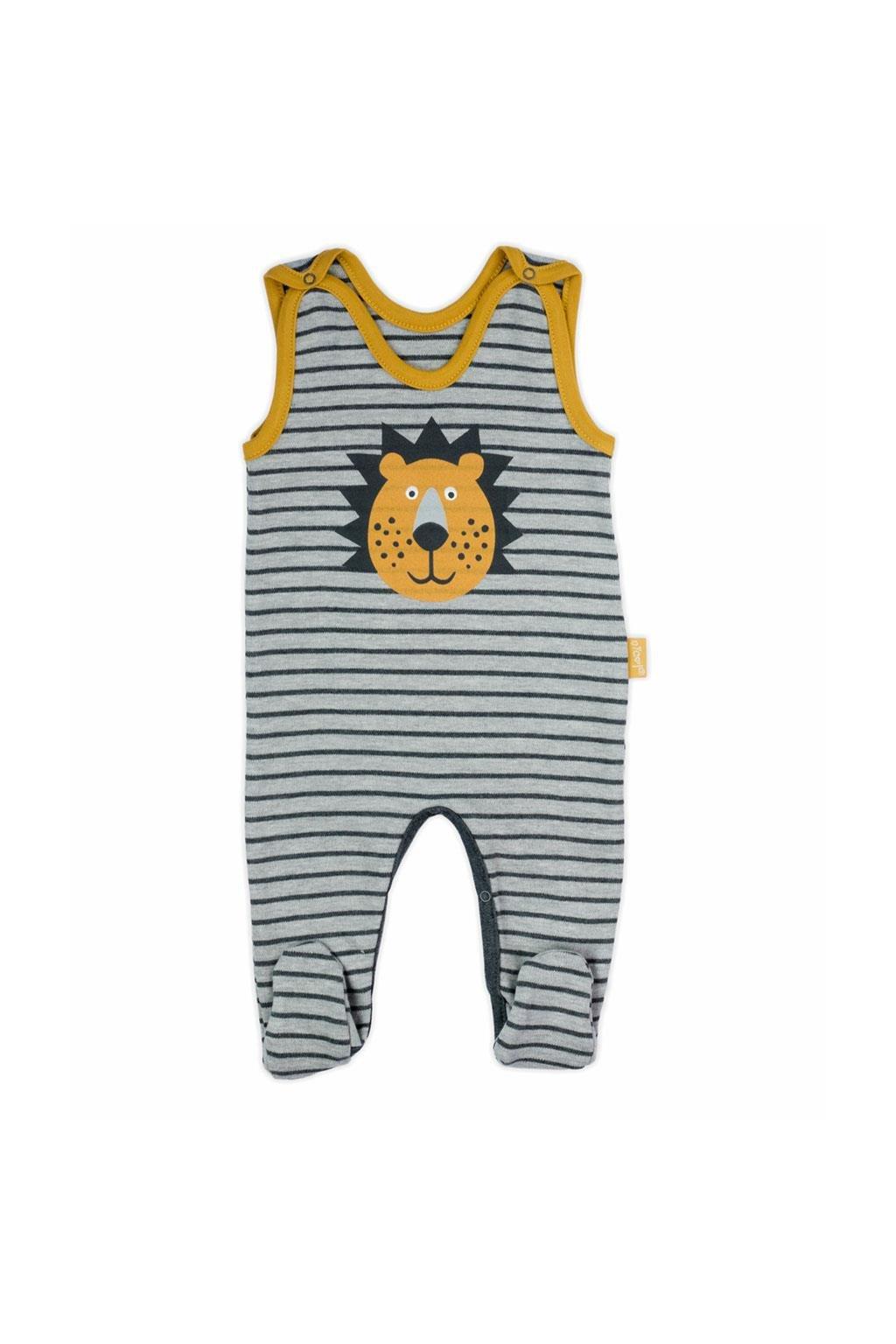 Dojčenské bavlnené dupačky Nicol Prince Lion NJSK 173023