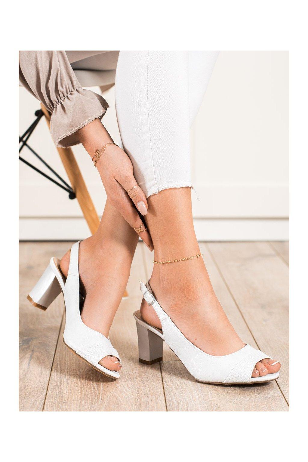 Sivé sandále na podpätku Shelovet kod 20SD35-2100S