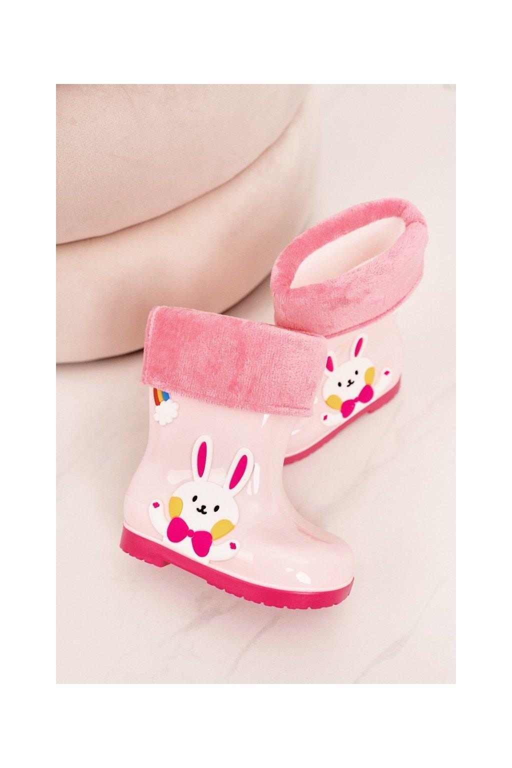 Ružová obuv kód topánok W094-2 PINK BUNNY