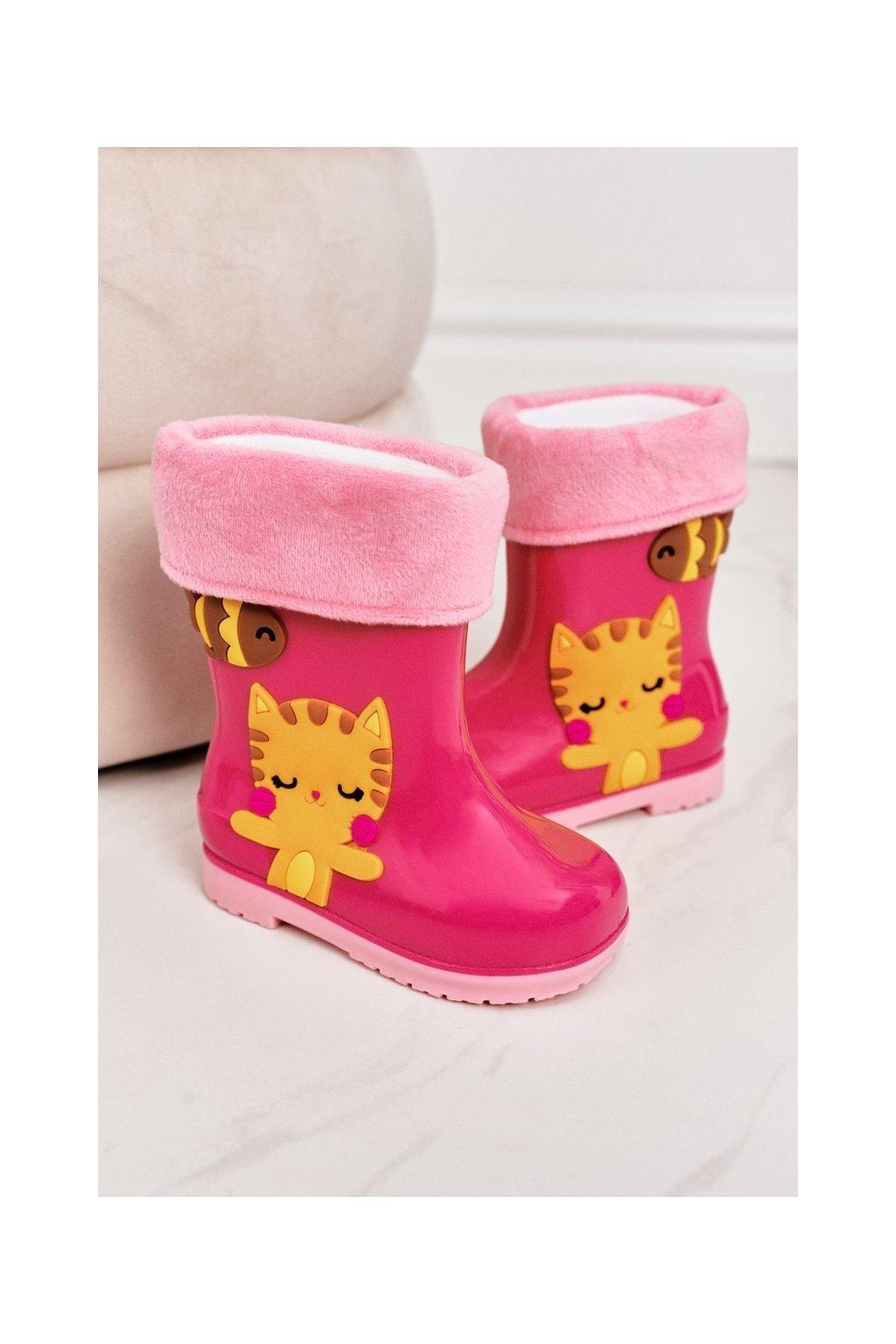 Ružová obuv kód topánok W094-2 PINK CAT