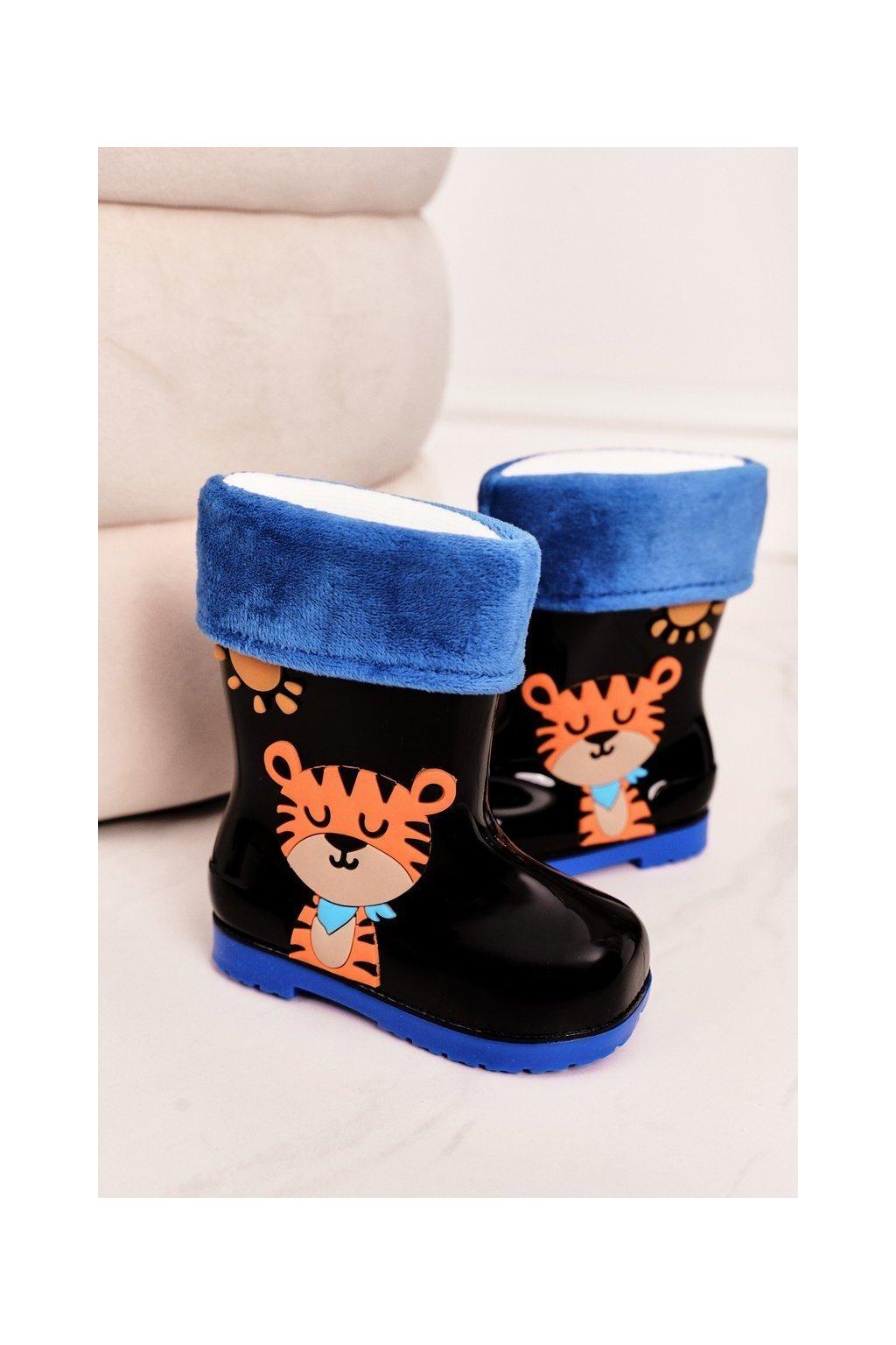 Čierna obuv kód topánok W094-1 BLK TIGER