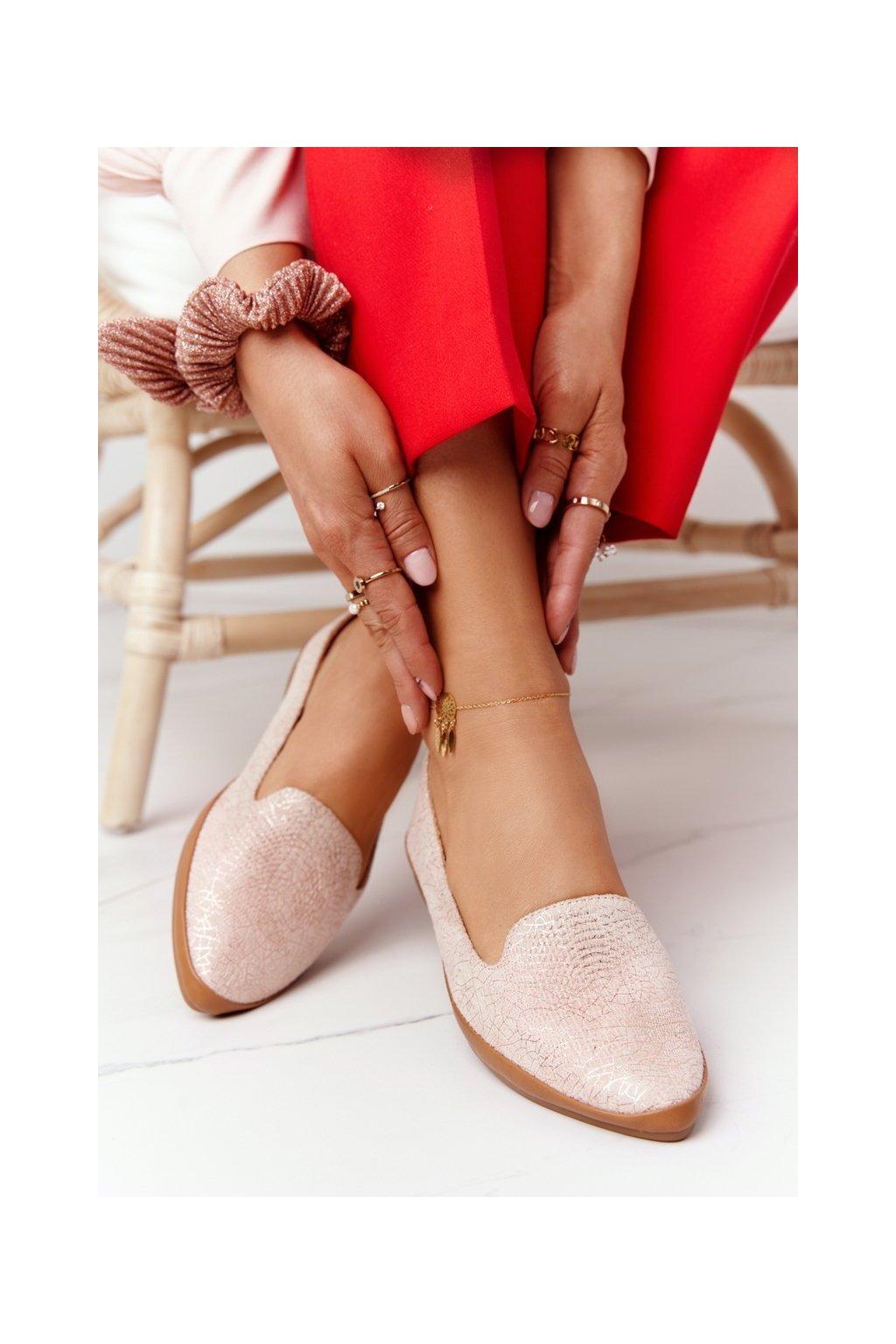 Dámske mokasíny farba ružová kód obuvi MK700 PINK