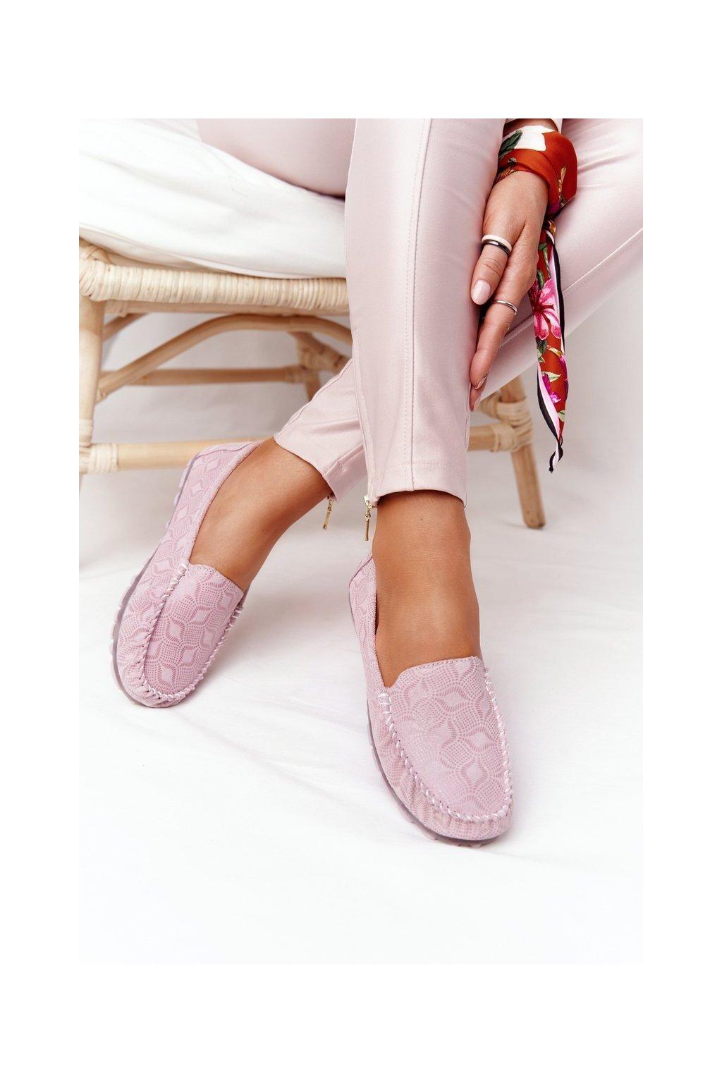 Dámske mokasíny farba ružová kód obuvi OC-125X29-3 PINK