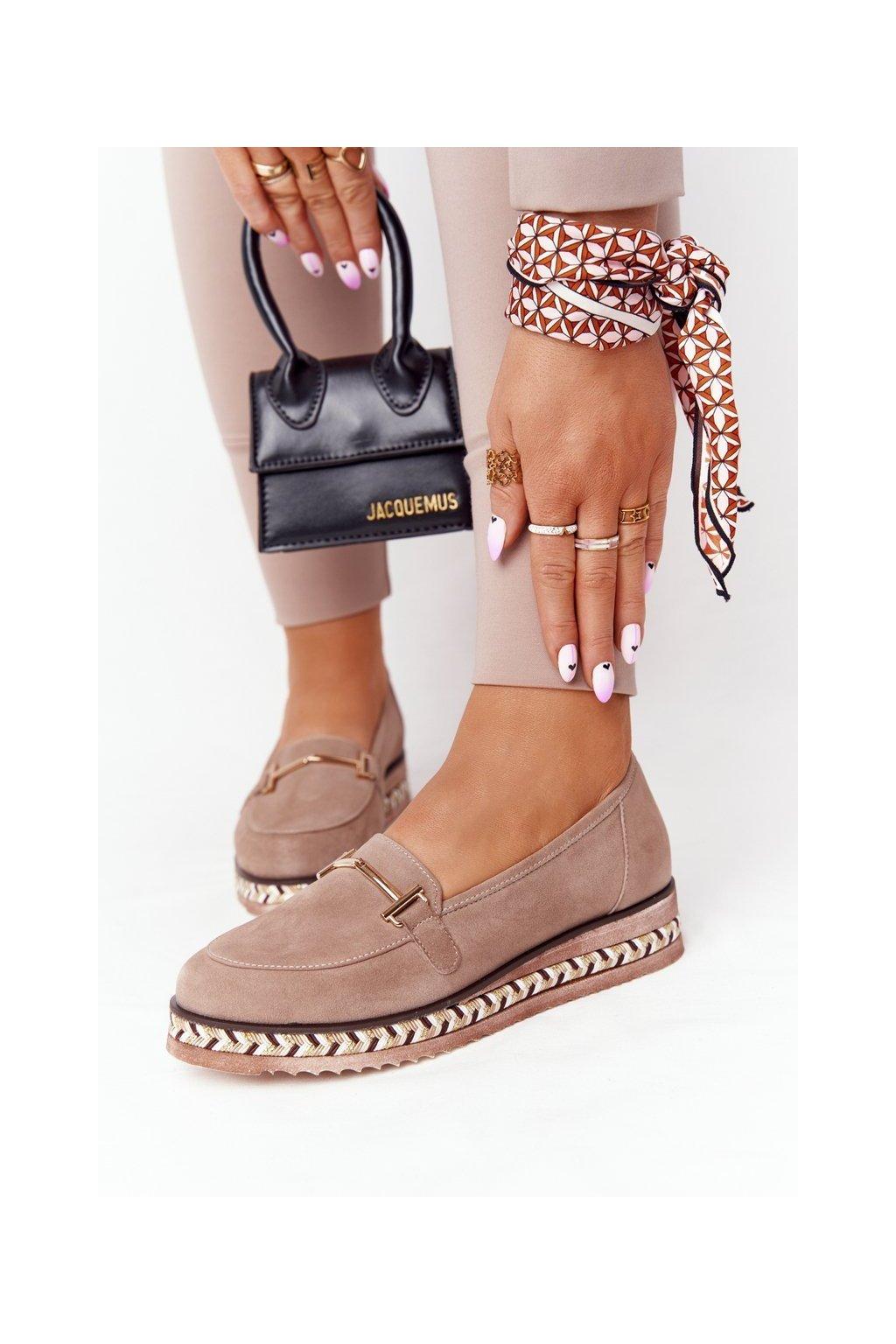 Dámske mokasíny farba hnedá kód obuvi 2284 311 L.BOWN