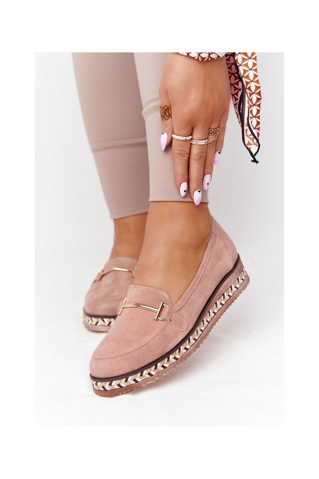 Dámske mokasíny farba ružová kód obuvi 2284 312 PINK