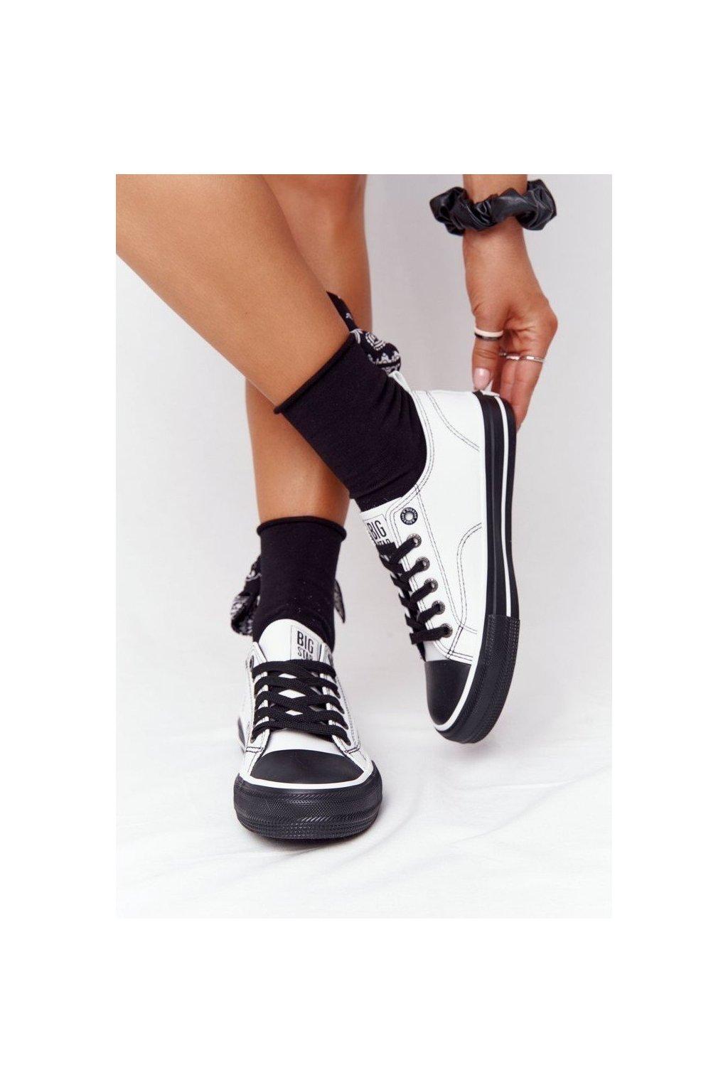 Dámske tenisky farba čierna kód obuvi HH274147 WHITE/BLACK