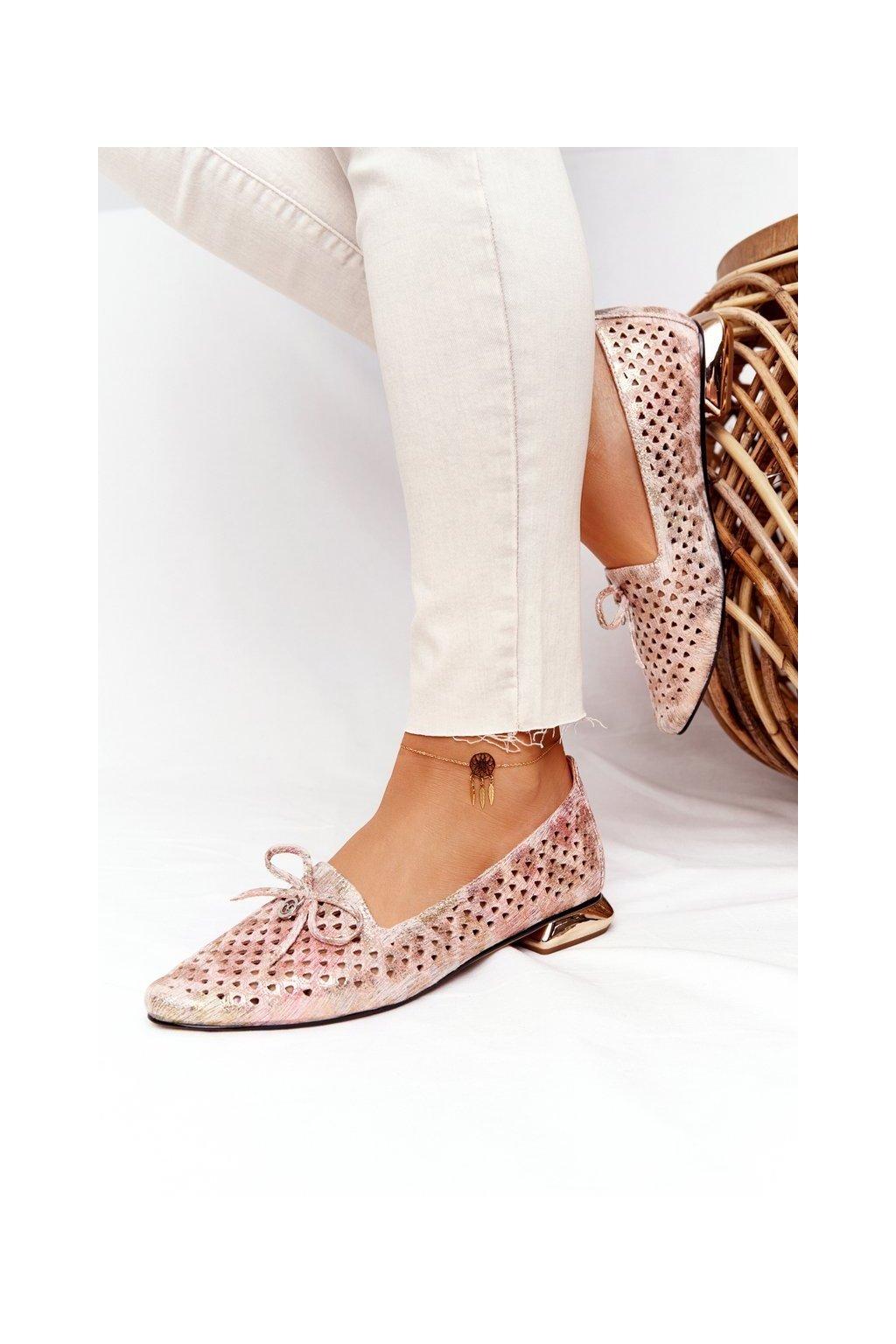 Dámske mokasíny farba žltá kód obuvi 21-10602 MULTIKOLOR