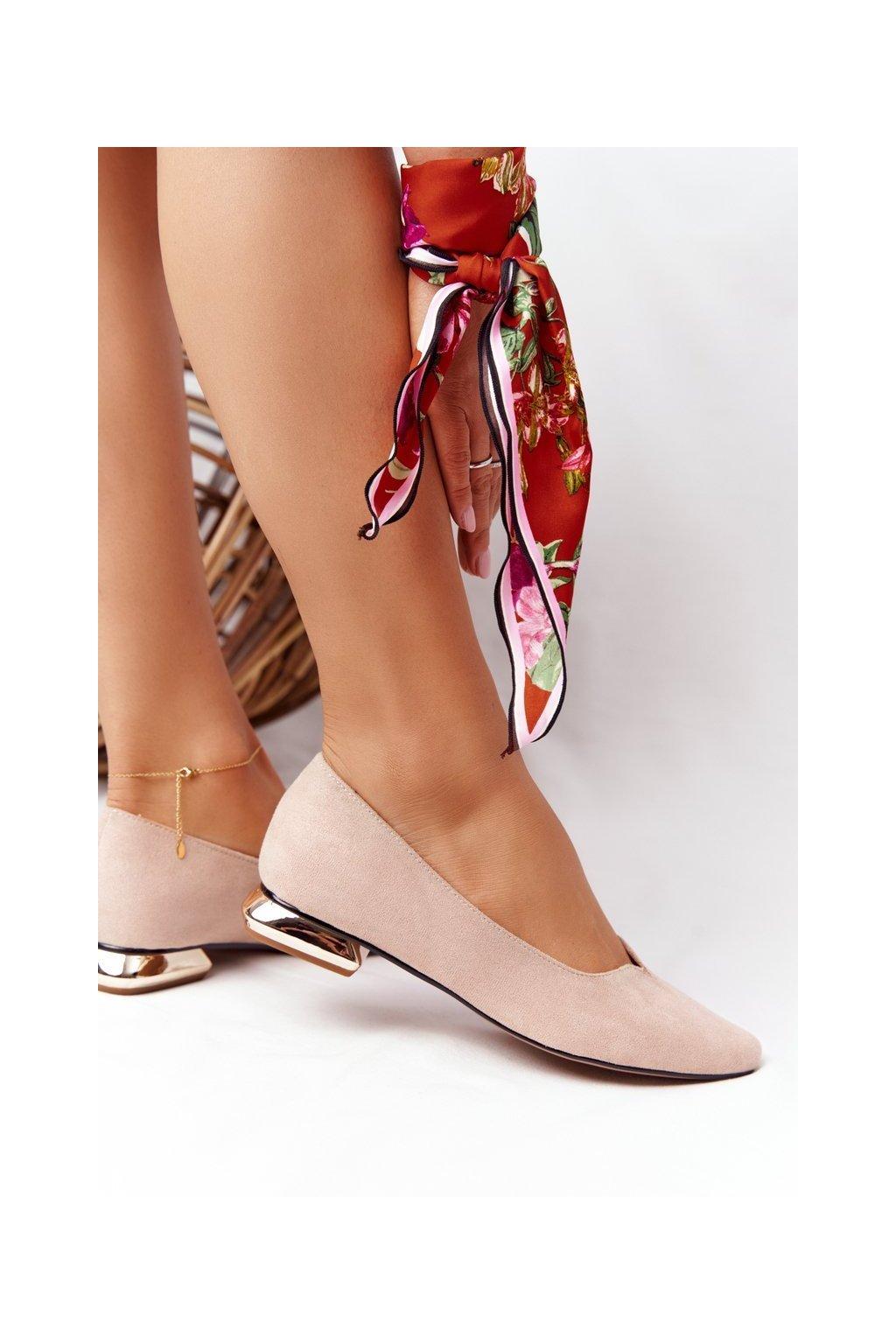 Dámske mokasíny farba hnedá kód obuvi 21-10601 BEIGE