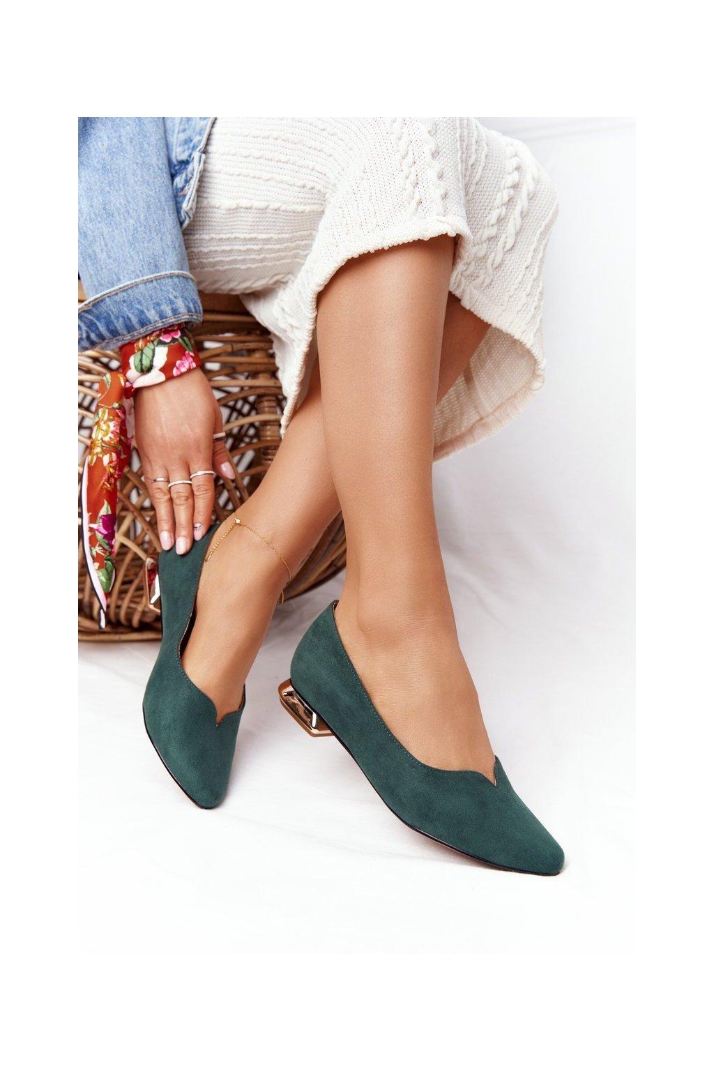 Dámske mokasíny farba žltá kód obuvi 21-10601 GREEN