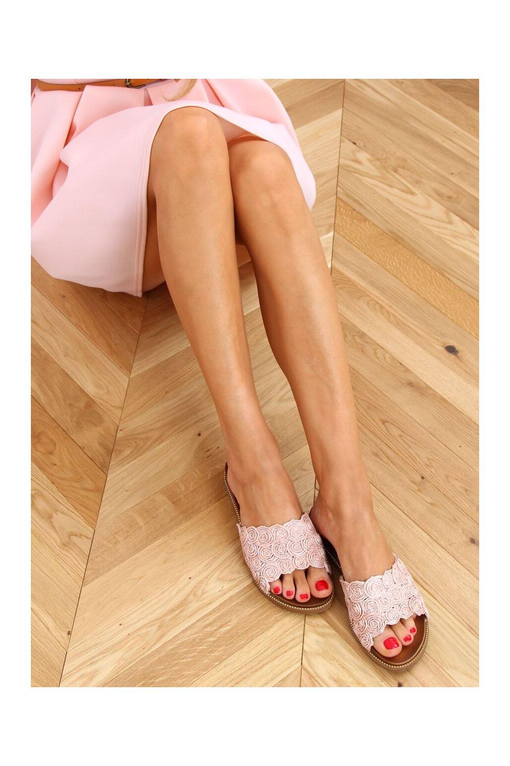 Damske šľapky ružové H006