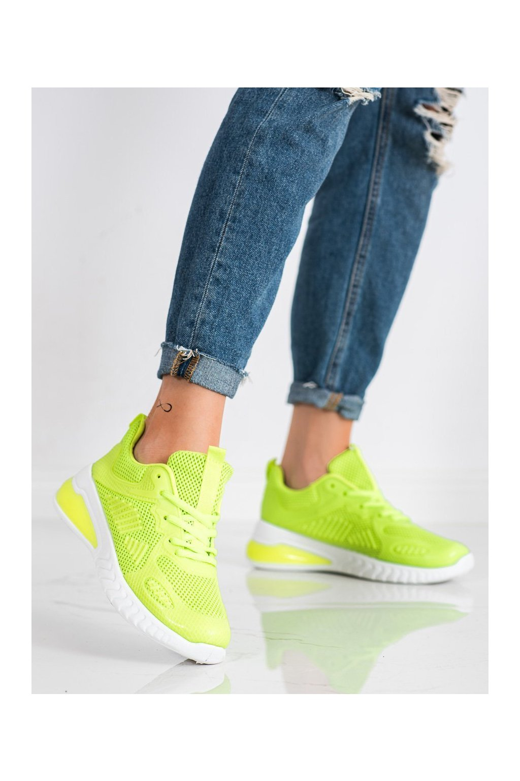Zelené tenisky Shelovet kod LV109GR