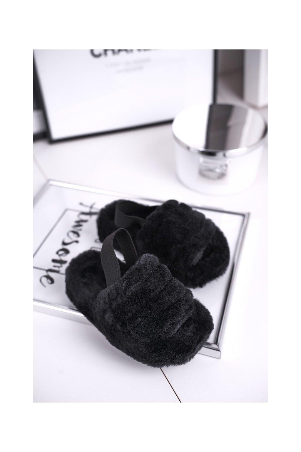 Detské šľapky farba čierna NJSK 7351-A BLK