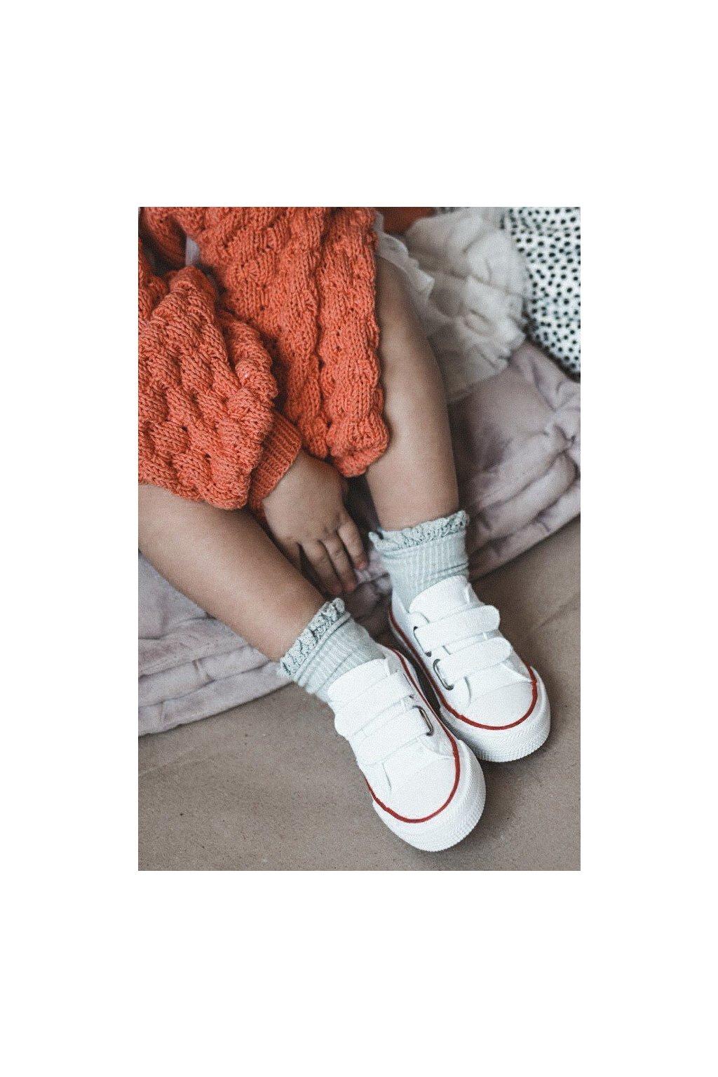Detské tenisky farba biela NJSK HH374199 WHITE