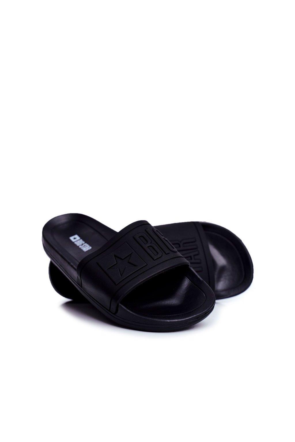 Pánske šľapky farba čierna NJSK DD174690 BLK