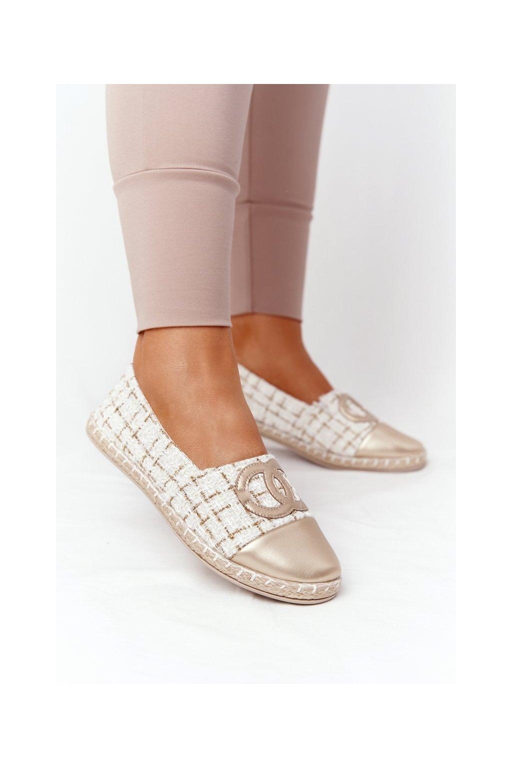 Dámske tenisky farba hnedá kód obuvi 21TX02-3694 GOLD