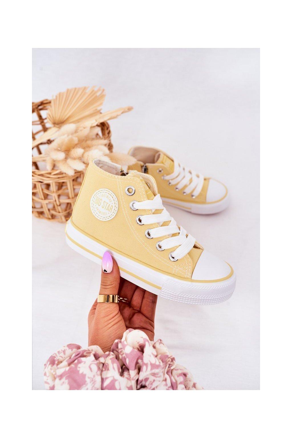 Detské tenisky farba žltá kód obuvi HH374138